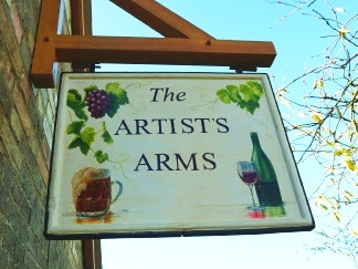 the artist arms sign